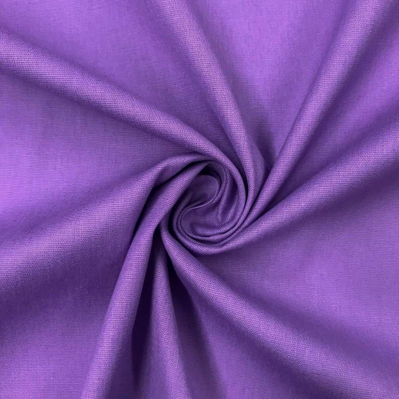Tecido Tricoline Lisa - 100% Algodão - 1,50m largura - Lilás lavanda