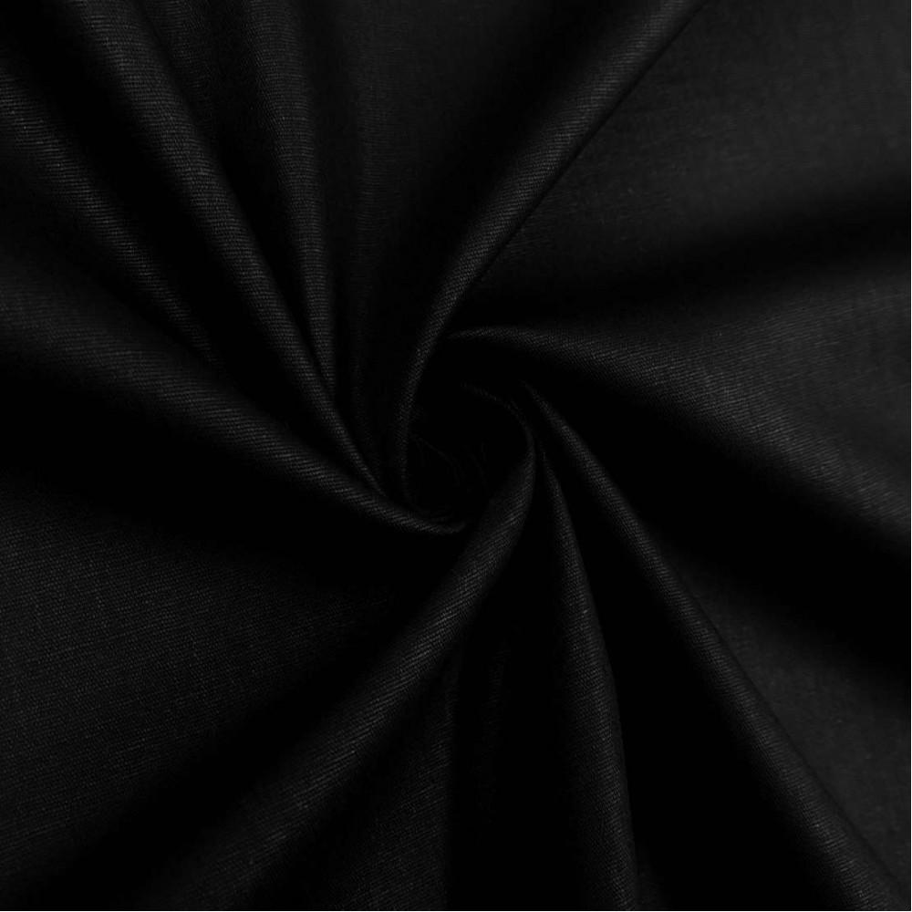 Tecido Tricoline Lisa - 100% Algodão - 1,50m largura - Preto