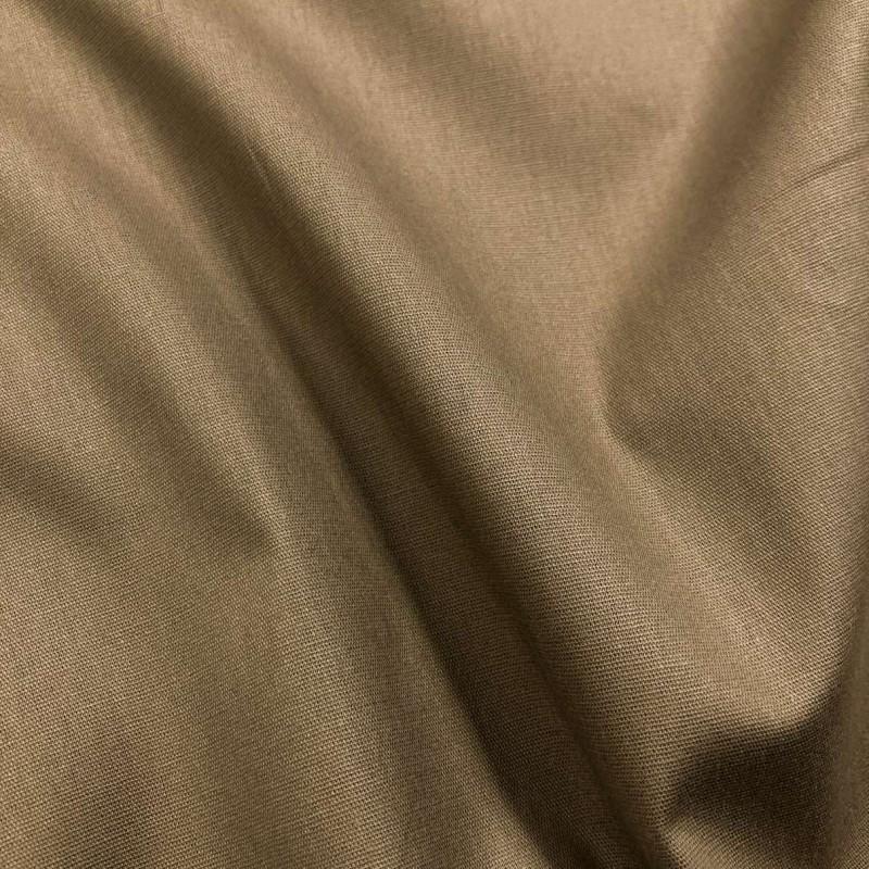 Tecido Tricoline Lisa - 100% Algodão - 1,50m largura - Fendi (caqui)
