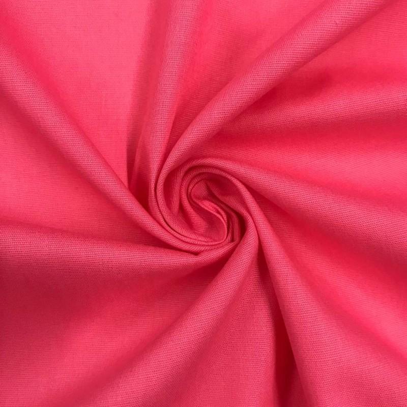 Tecido Tricoline Lisa - 100% Algodão - 1,50m largura - Pitaya