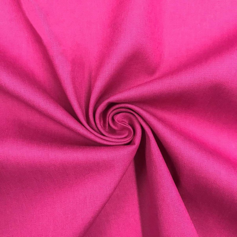 Tecido Tricoline Lisa - 100% Algodão - 1,50m largura - Fucsia