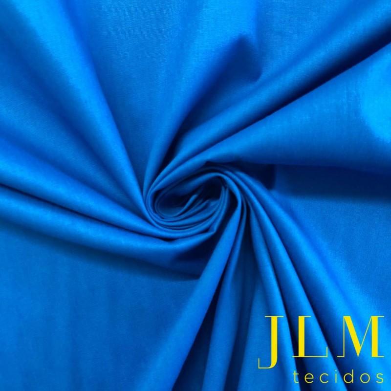 Tecido Tricoline Lisa - 100% Algodão - 1,50m largura - Azul céu