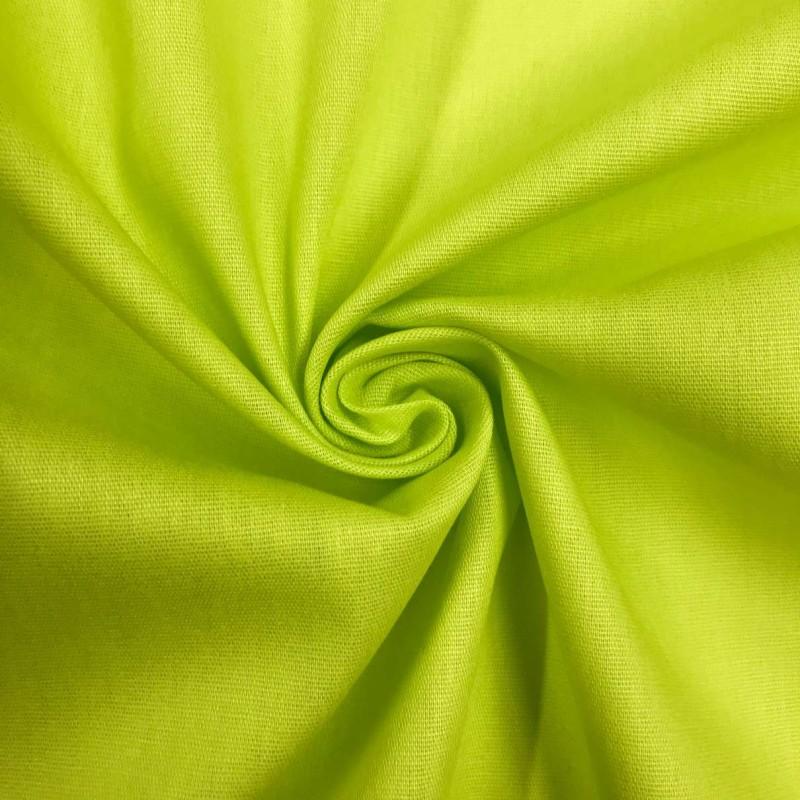 Tecido Tricoline Lisa - 100% Algodão - 1,50m largura - Verde lima