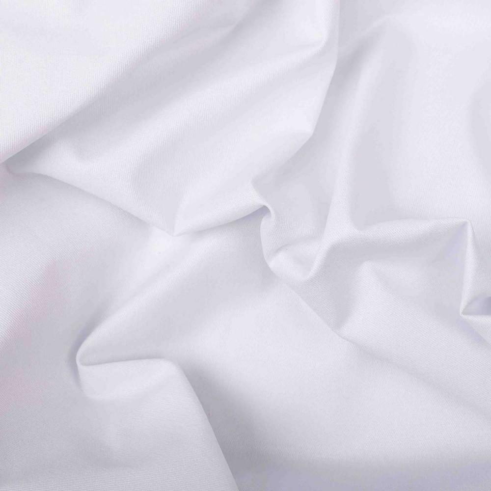 Tecido Tricoline Lisa - 100% Algodão - 1,50m largura - Branco