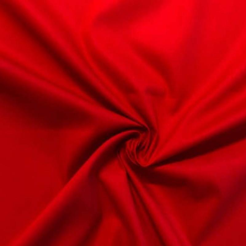 Tecido Tricoline Lisa - 100% Algodão - 1,50m largura - Vermelho
