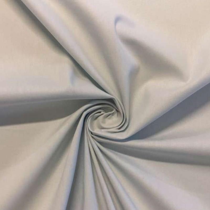 Tecido Tricoline Lisa - 100% Algodão - 1,50m largura - Cinza claro