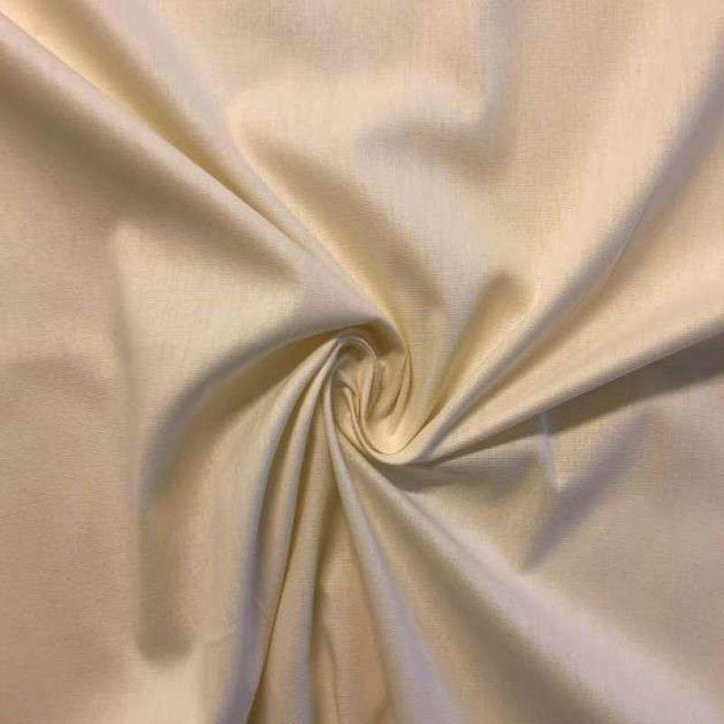 Tecido Tricoline Lisa - 100% Algodão - 1,50m largura - Pérola