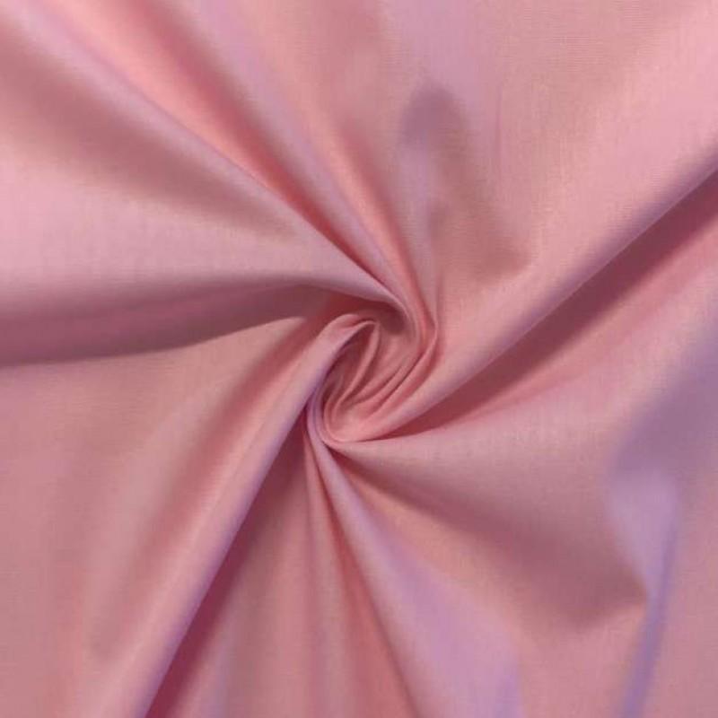 Tecido Tricoline Lisa - 100% Algodão - 1,50m largura - Rosa bebê