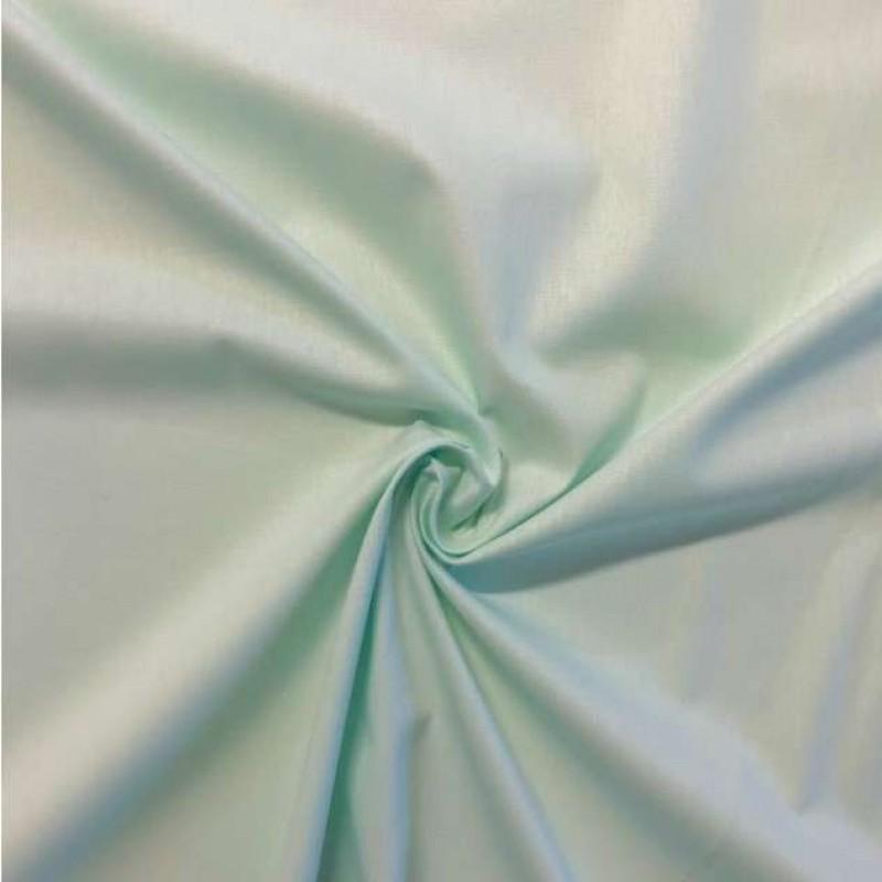 Tecido Tricoline Lisa - 100% Algodão - 1,50m largura - Verde água