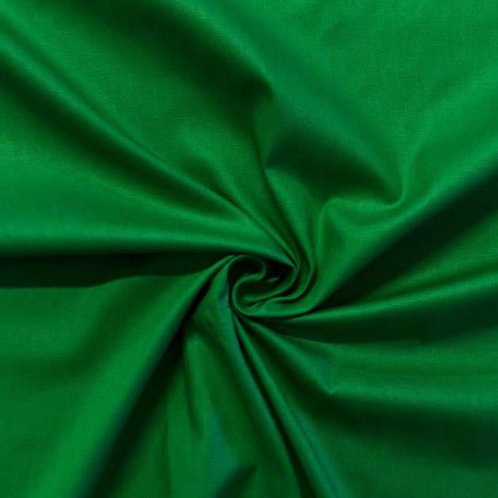 Tecido Tricoline Lisa - 100% Algodão - 1,50m largura - Verde bandeira