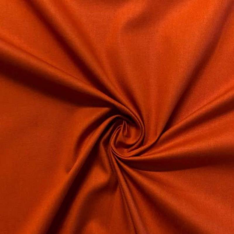 Tecido Tricoline Lisa - 100% Algodão - 1,50m largura - Telha