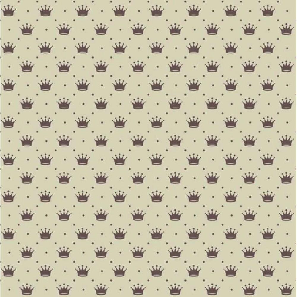 Tecido Tricoline - Mini Coroa com Poá - 100% Algodão - 1,50m largura - Variante 57