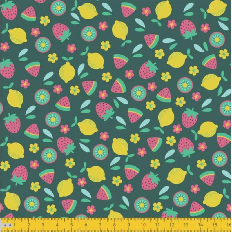 Tecido Tricoline - Mini Frutinhas - 100% Algodão - 1,50m largura - Variante 1