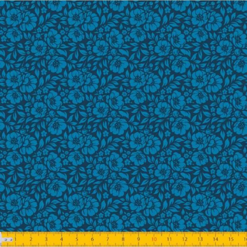 Tecido Tricoline - Mini Hibiscos - 100% Algodão - 1,50m largura - Variante 11