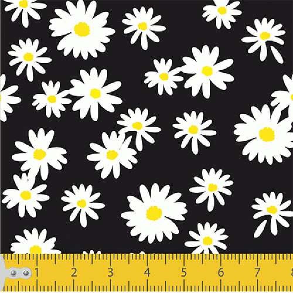 Tecido Tricoline - Mini Margaridas - 100% Algodão - 1,50m largura - Variante 1