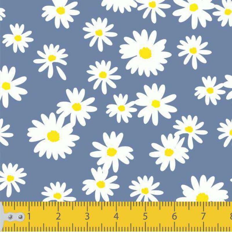 Tecido Tricoline - Mini Margaridas - 100% Algodão - 1,50m largura - Variante 7