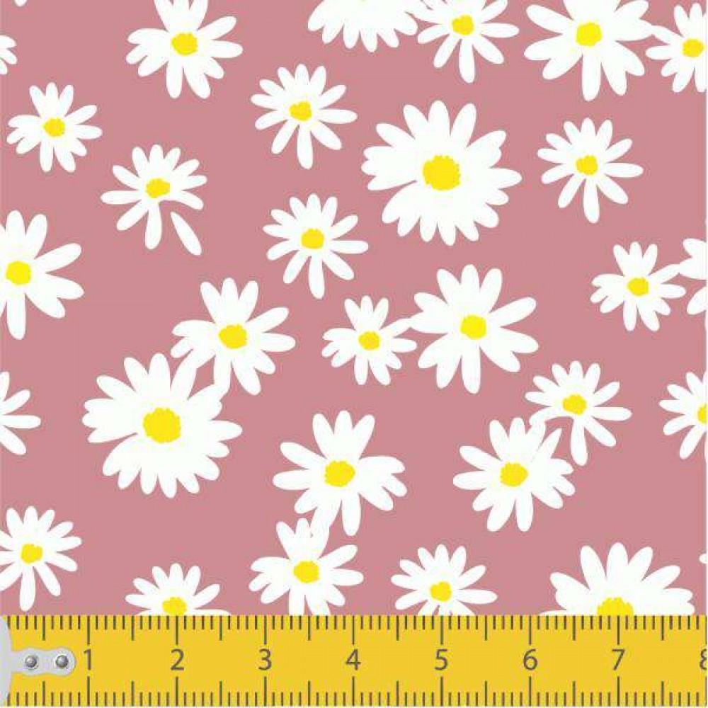 Tecido Tricoline - Mini Margaridas - 100% Algodão - 1,50m largura - Variante 9