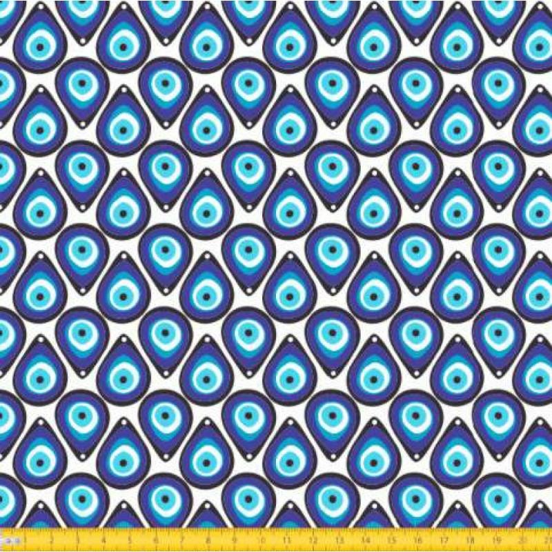 Tecido Tricoline - Olho Grego - 100% Algodão - 1,50m largura - Variante 1