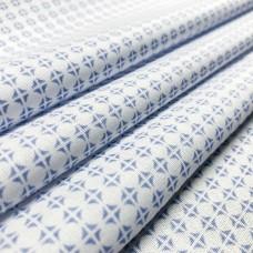 Tecido Tricoline em Promoção - Geométrico - 100% Algodão - Azul