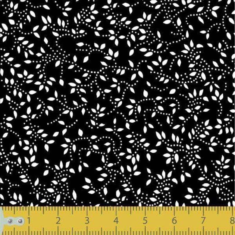 Tecido Tricoline - Raminho com Folhas - 100% Algodão - 1,50m largura - Variante 104