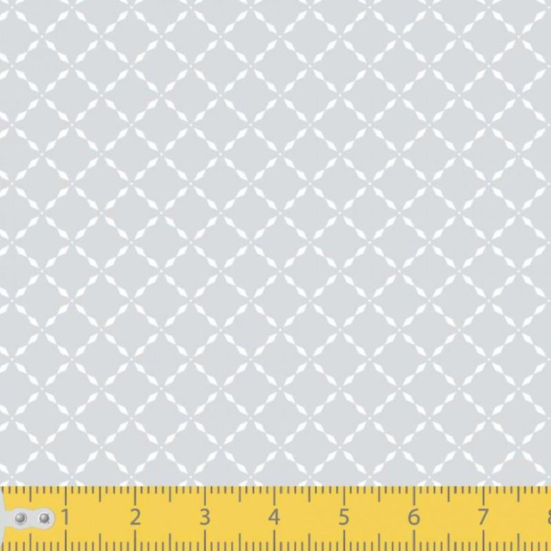 Tecido Tricoline - Losango Pontilhado - 100% Algodão - 1,50m largura - Variante 91