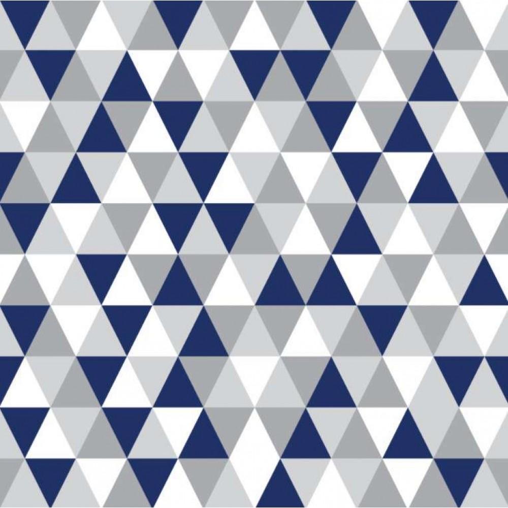 Tecido Tricoline - Triângulos Geométricos - 100% Algodão - 1,50m largura - Variante 1