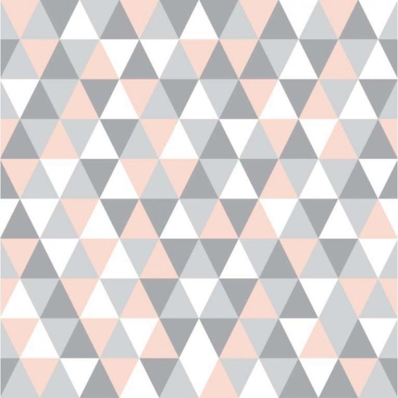 Tecido Tricoline - Triângulos Geométricos - 100% Algodão - 1,50m largura - Variante 2
