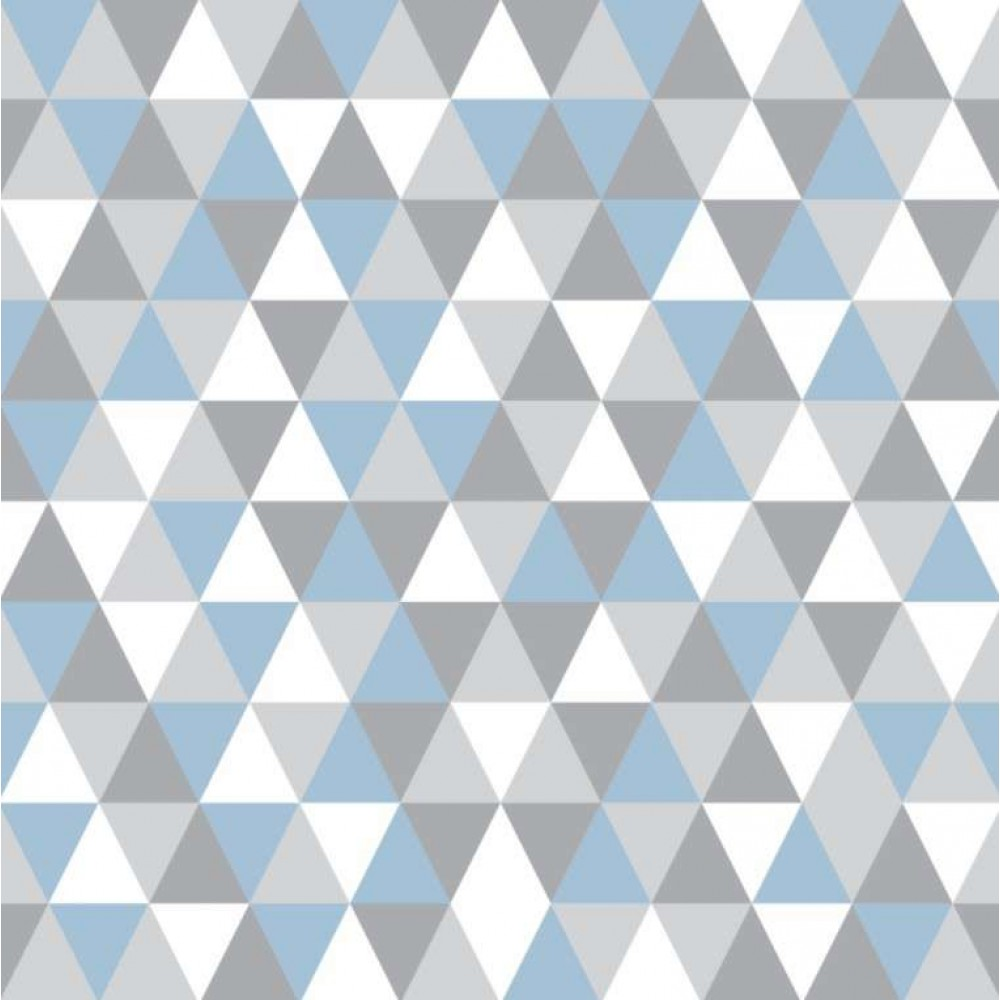 Tecido Tricoline - Triângulos Geométricos - 100% Algodão - 1,50m largura - Variante 3