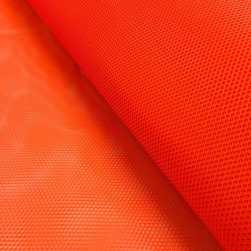 Tela Voley Resinada - 100% Poliamida - Largura 1,50M - Laranja neon