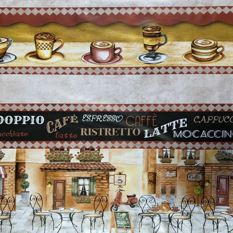 Toalha Plástica - Cappucino (Barrado) - 100% Polipropileno - 1,40m Largura - Cor unica