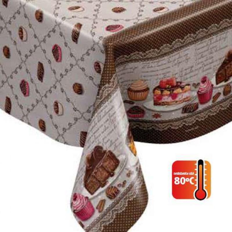 Toalha Plástica - Confeitaria (Barrado) - 100% Polipropileno - 1,40m Largura - Cor unica