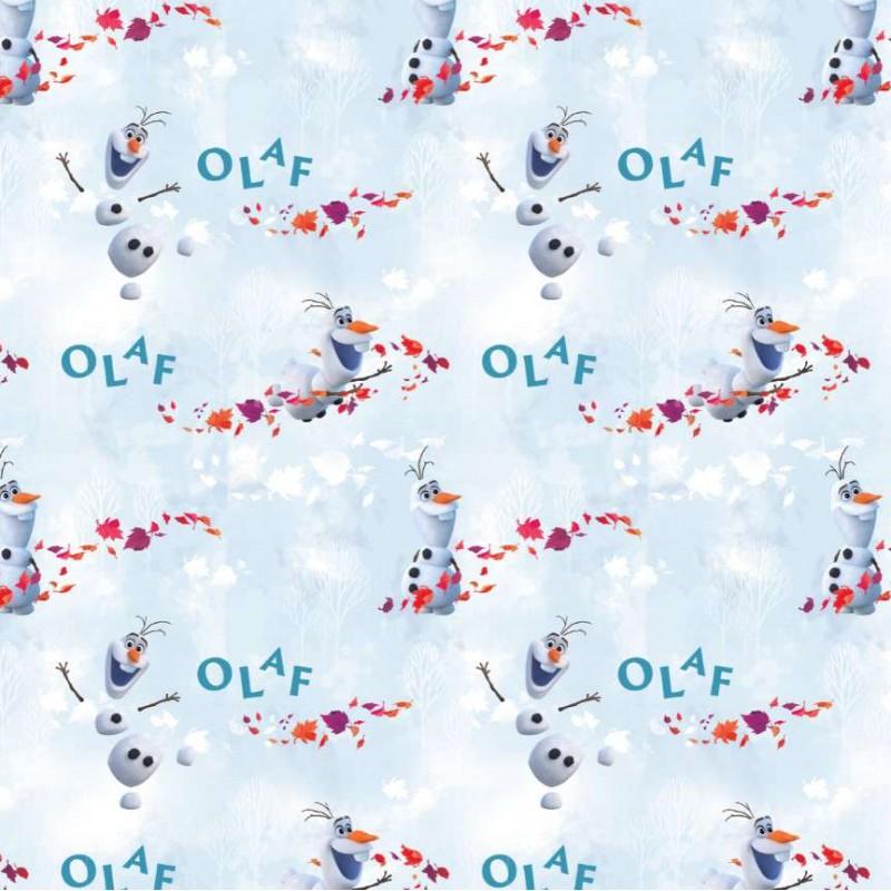 Tricoline Digital Fernando Maluhy - Disney Olaf Frozen - 100% Algodão - C01