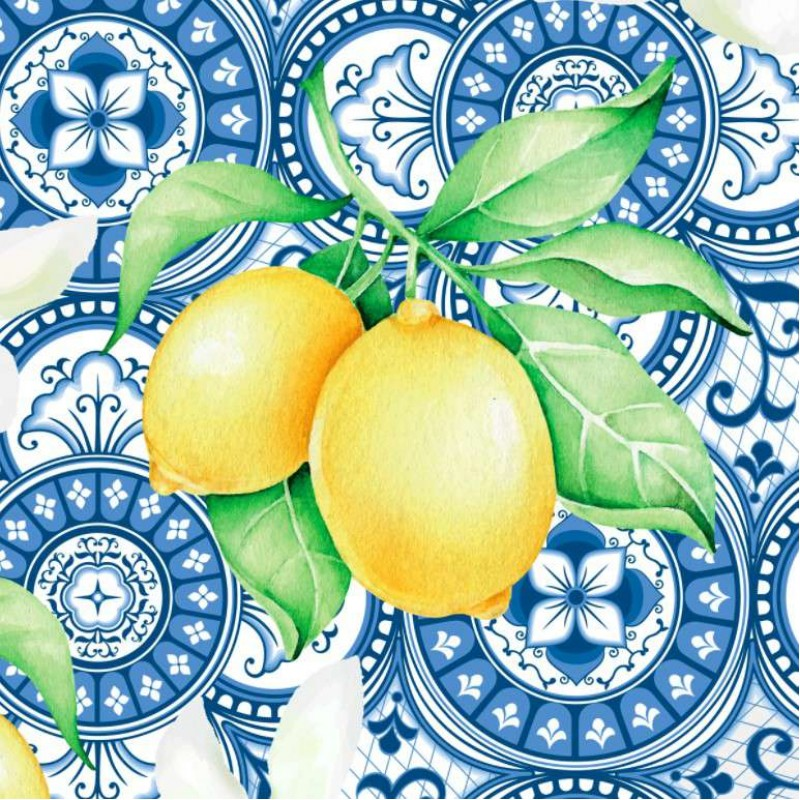 Tricoline Digital - Limão Siciliano Português - 100% Algodão - Variante 1