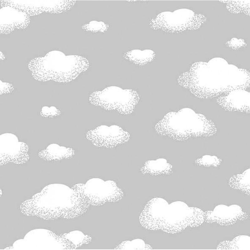 Tricoline Estampada - Nuvem Cinza - 100% Algodão - 1,50m Largura - Variante 1