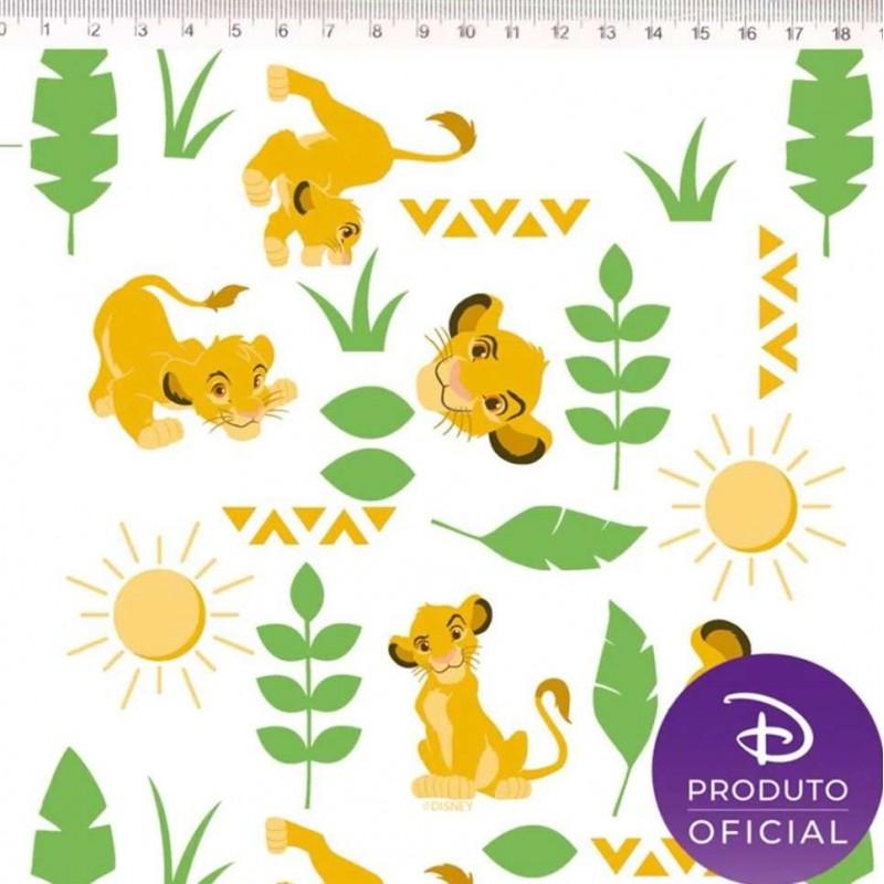 Tricoline Fernando Maluhy - O Rei Leão Simba - 100% Algodão - C01