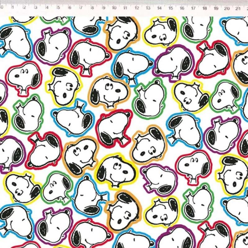 Tricoline Fernando Maluhy - Snoopy Color - 100% Algodão - C01