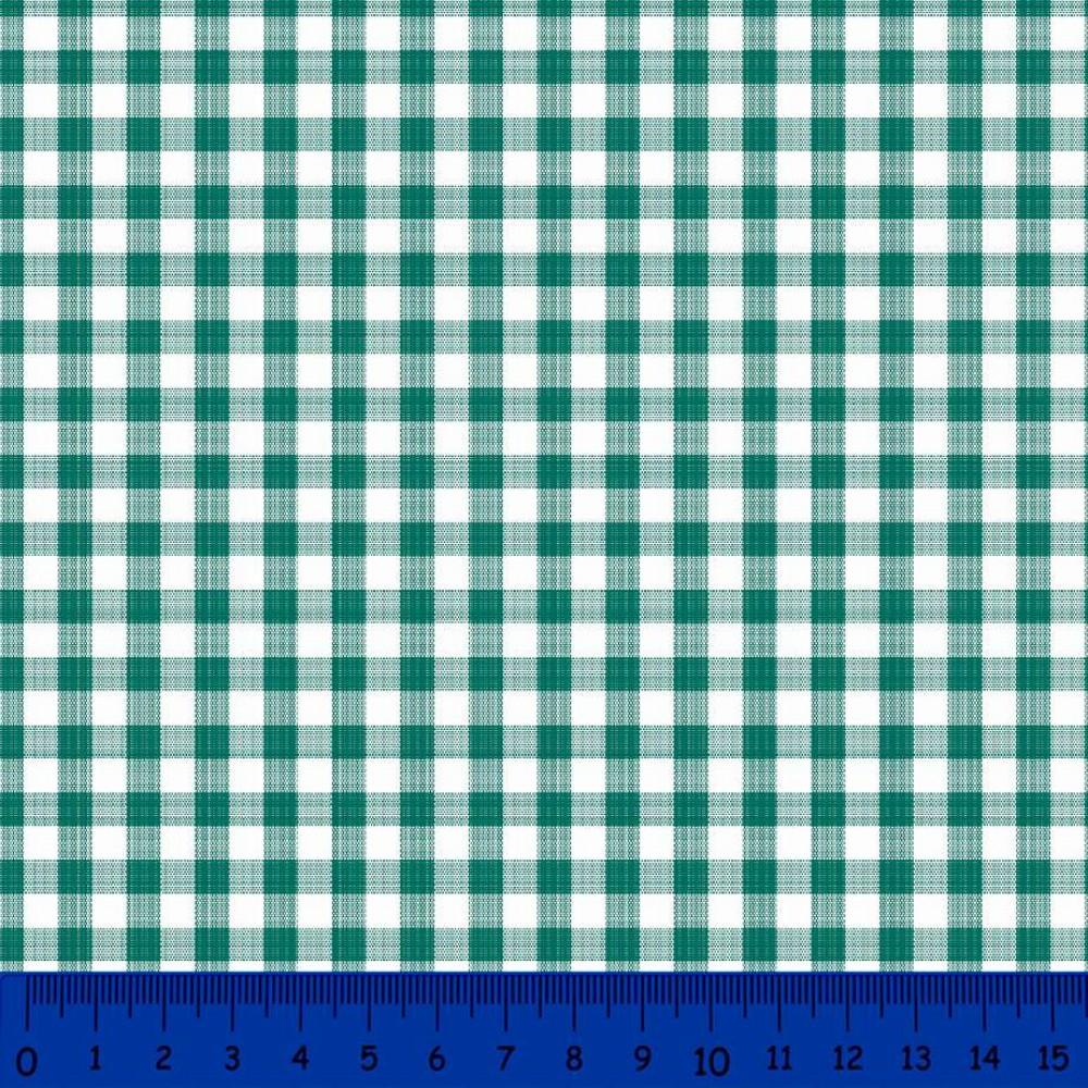 Tricoline Xadrez Fio Tinto - Grande - 100% Algodão - Verde