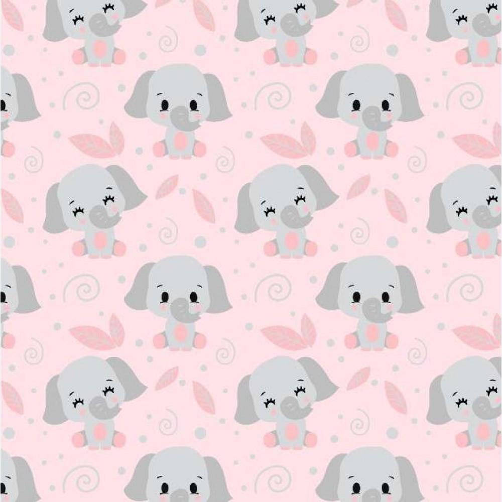 Tricoline fernando Maluhy - Elefante Baby - 100% Algodão - C01