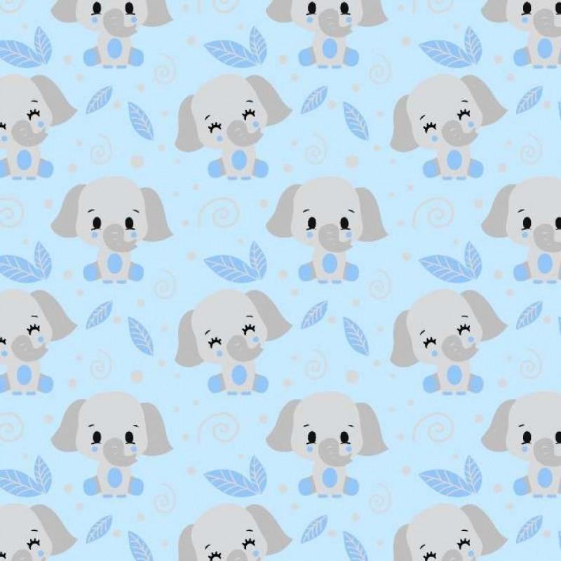 Tricoline fernando Maluhy - Elefante Baby - 100% Algodão - C02