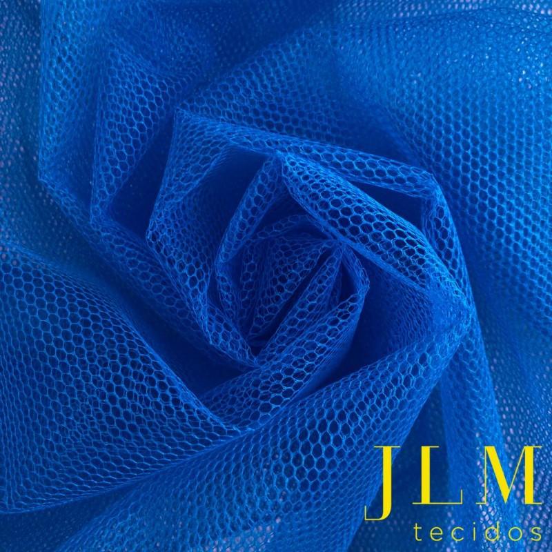Tule Filó Armado - 100% Poliamida - 3,16m largura - Azul turquesa