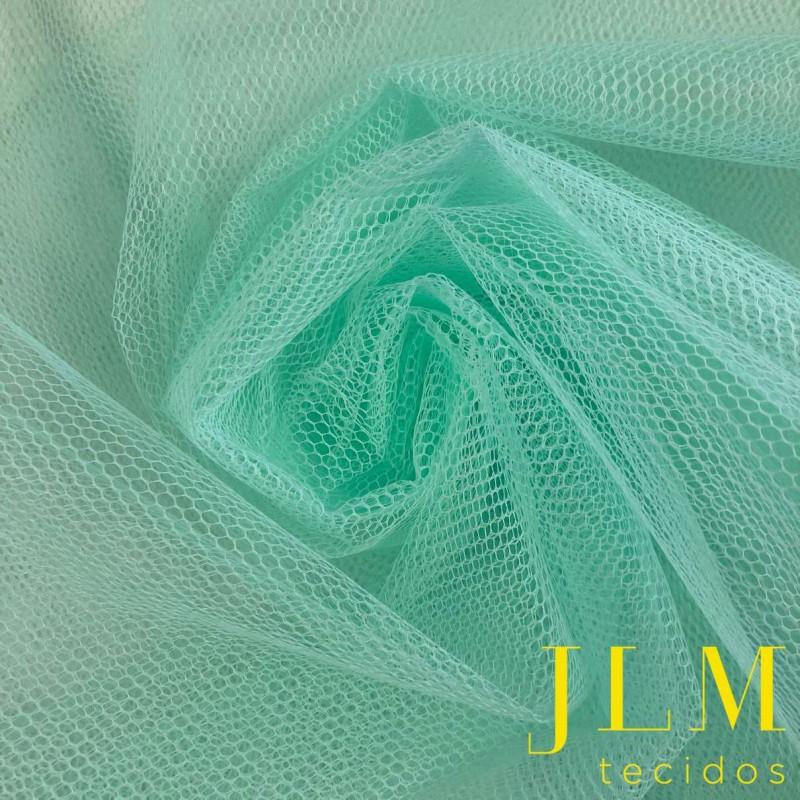 Tule Filó Armado - 100% Poliamida - 3,16m largura - Verde água