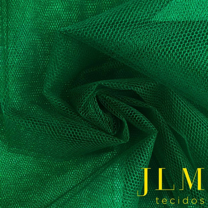 Tule Filó Armado - 100% Poliamida - 3,16m largura - Verde bandeira