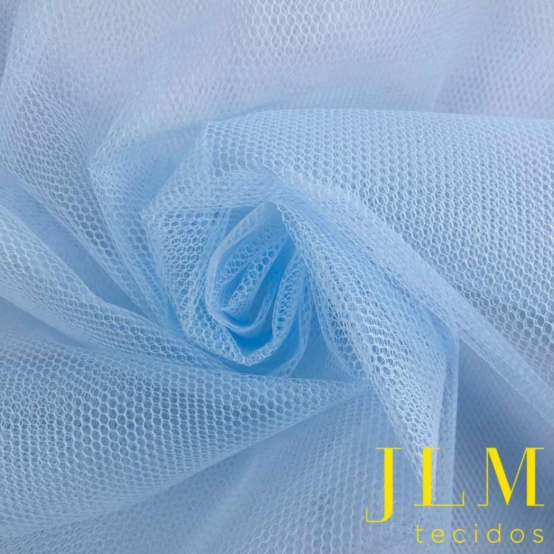 Tule Filó Armado - 100% Poliamida - 3,16m largura - 0560 - azul claro