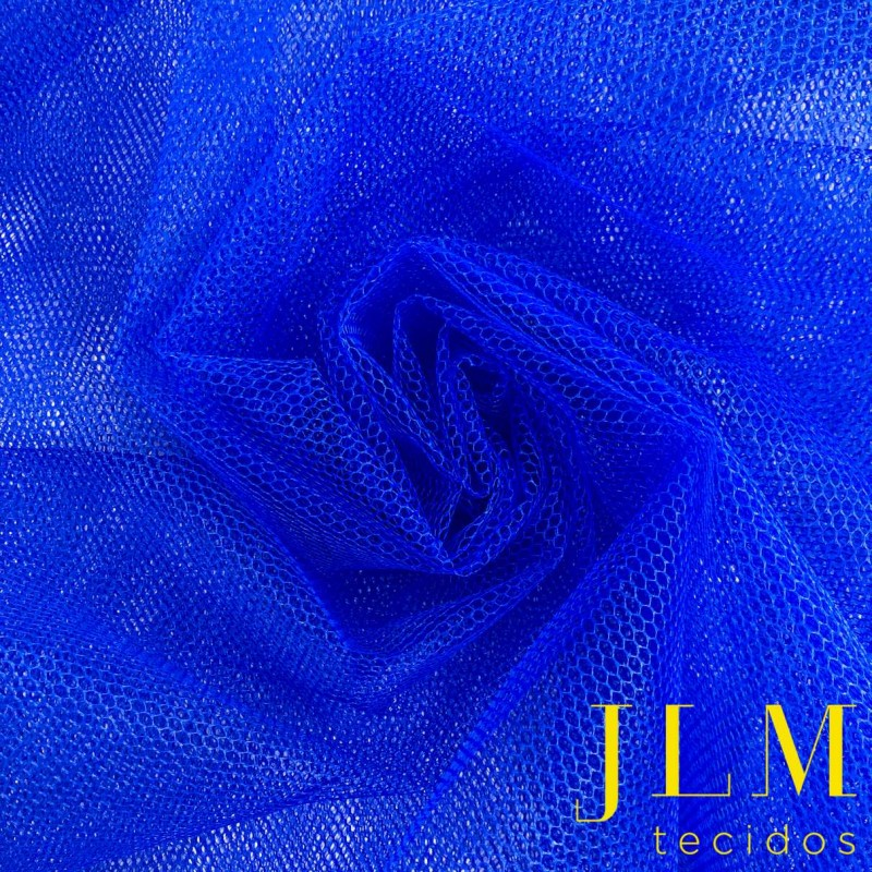 Tule Filó Armado - 100% Poliamida - 3,16m largura - Azul royal