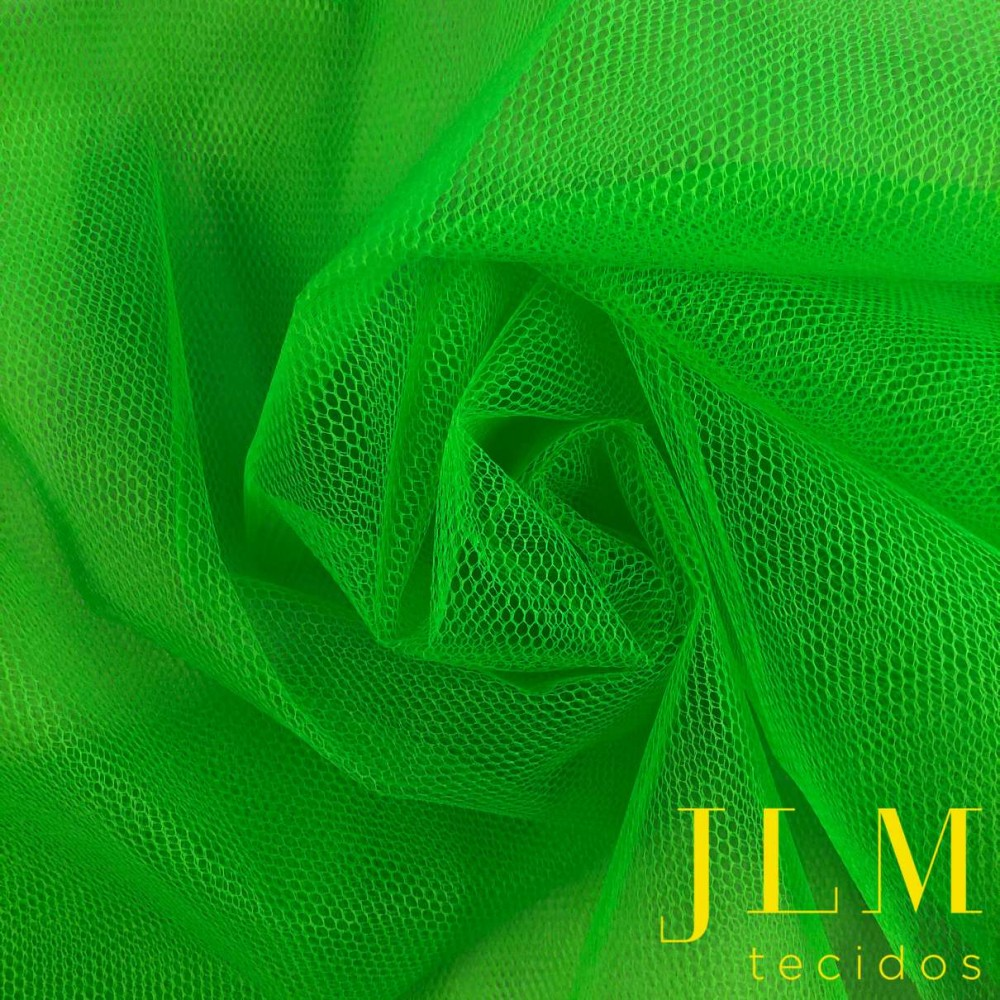 Tule Filó Armado - 100% Poliamida - 3,16m largura - Verde limã0